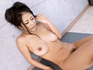 Horny Satomi shows everyone how she..