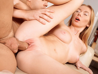 Lad gives total assets rubdown to her..