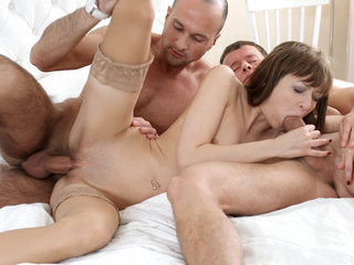 Surprise three-way with ass-fuck