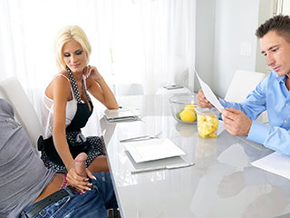 Older Cougar Stepmom Tempts Her Sonnie..
